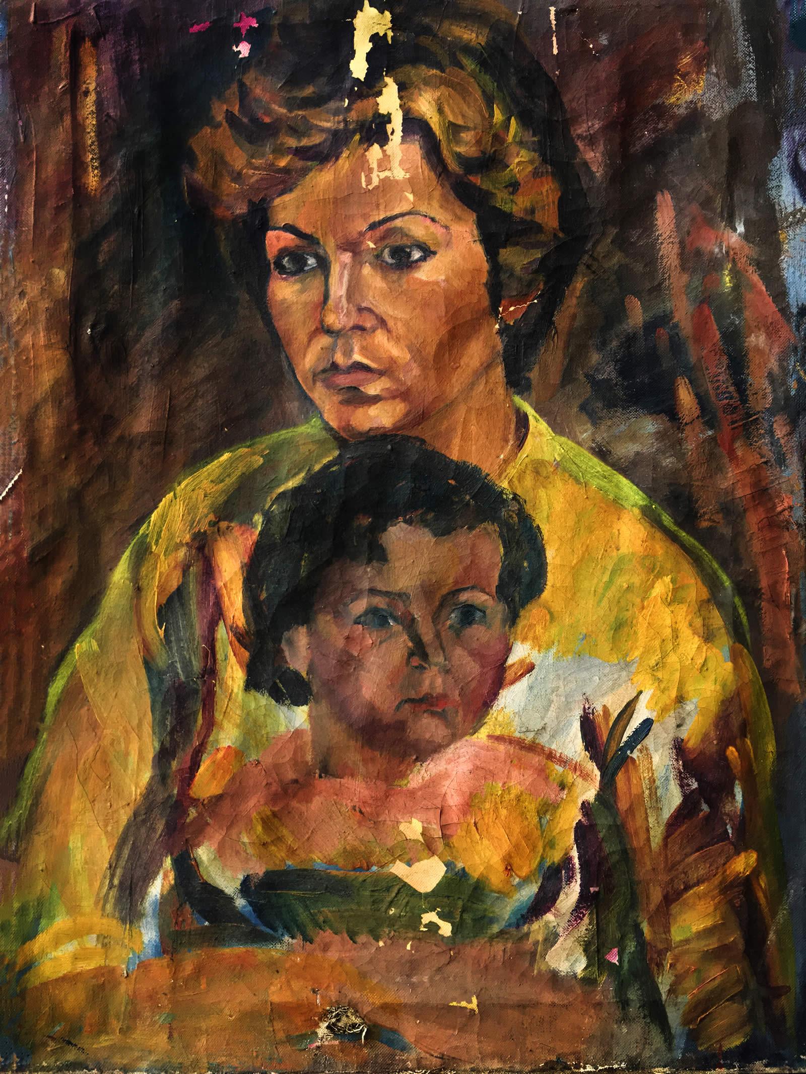 Портрет на майка с дете